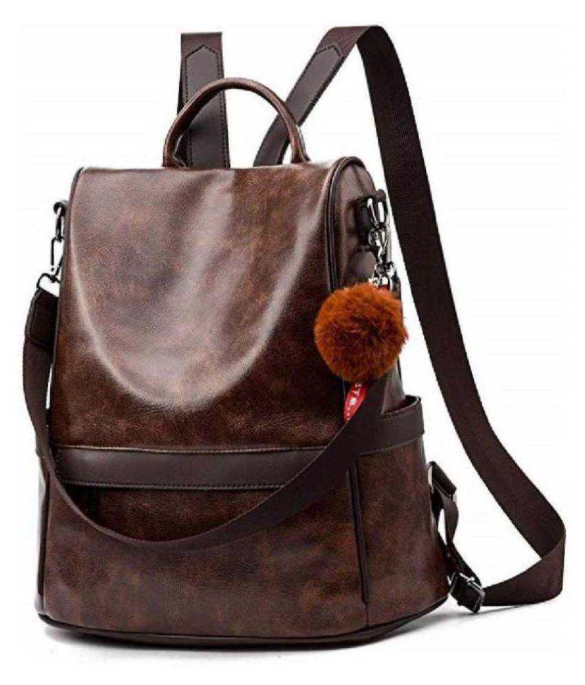 TRENDHUB Brown Backpack
