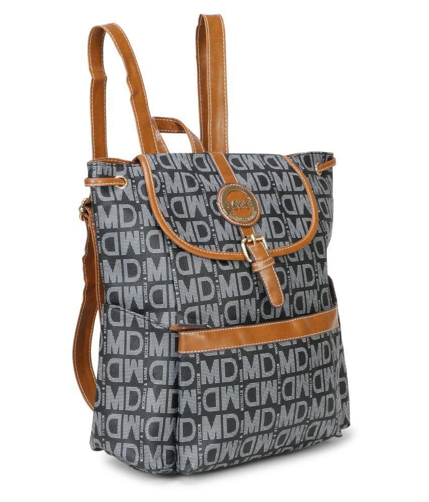 aims fusion Black Fabric College Bag