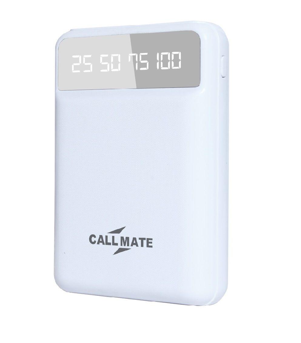 Callmate T25 10000  mAh Li Polymer Power Bank White