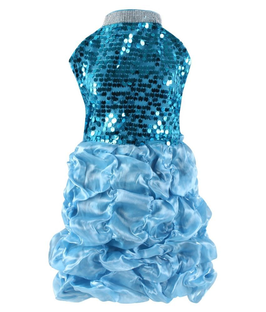 Fancy Dressup Blue  Baloon Frock for 3 to 5 year girls.