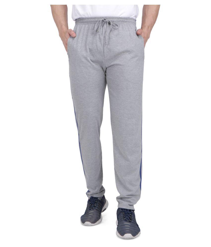 Neo Garments Grey Cotton Trackpants Single
