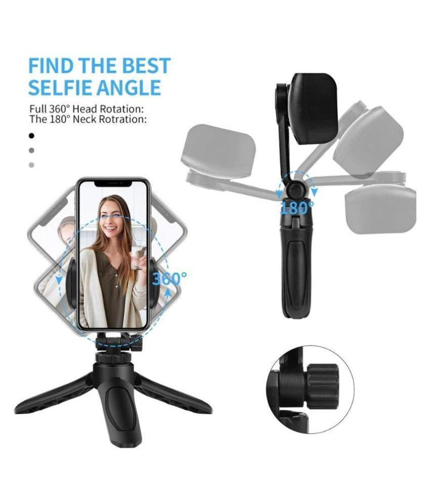 ROYAAL Mini Tri-pod with 360 Degree Rotation Mobile Attachment Lightweight Portable Tri-pod for Mobile Vlog, Mobile Video Shooting, Photography, YouTube, etc