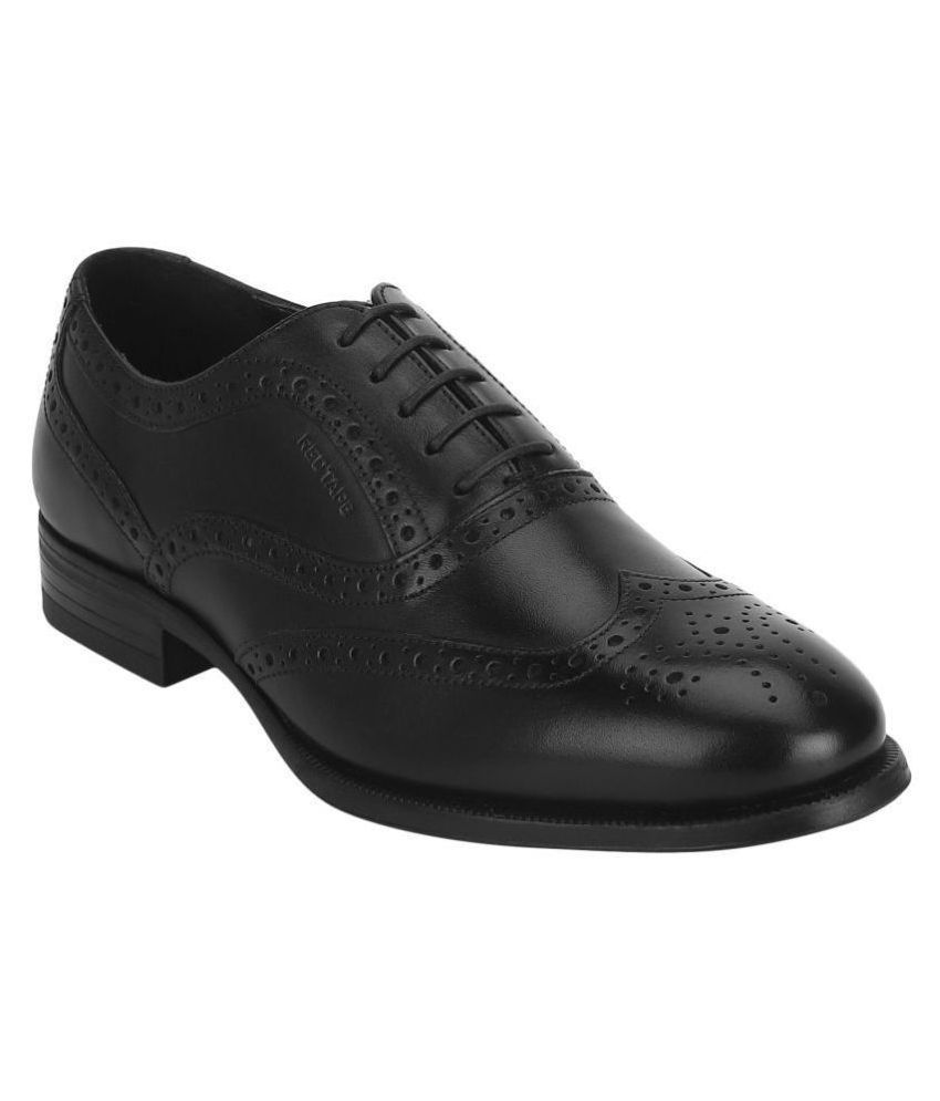 Red Tape Brogue Genuine Leather Black Formal Shoes