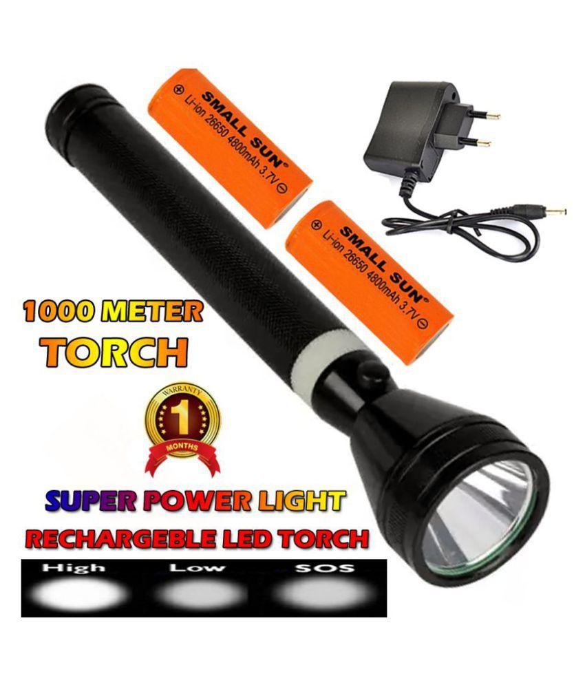 DG 1500 Meter Long Range 2 Mode Rechargeable Torch 12W Flashlight Torch 12W Flashlight Torch - Pack of 1