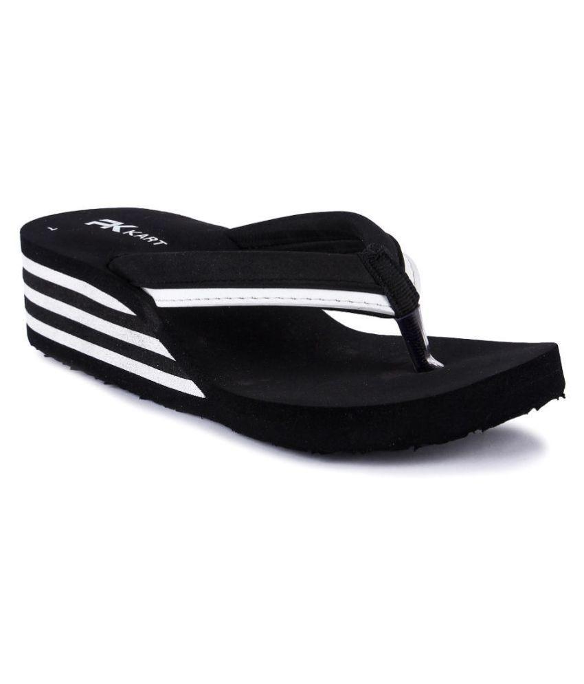 PKKART Black Slippers