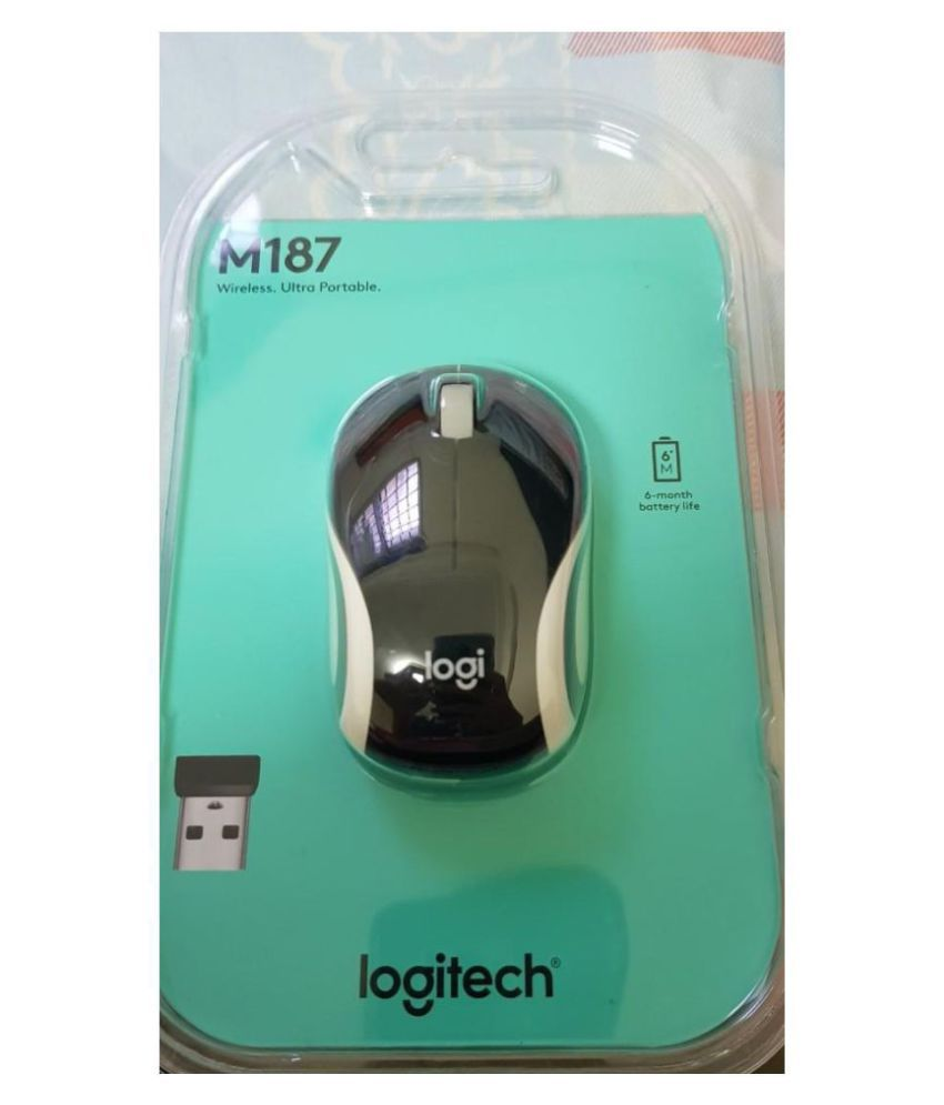 Logitech M187 Black Wireless Mouse