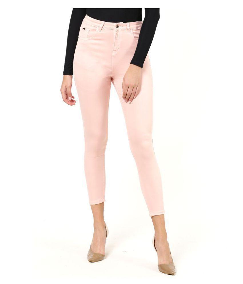 2Bme Cotton Jeans - Peach