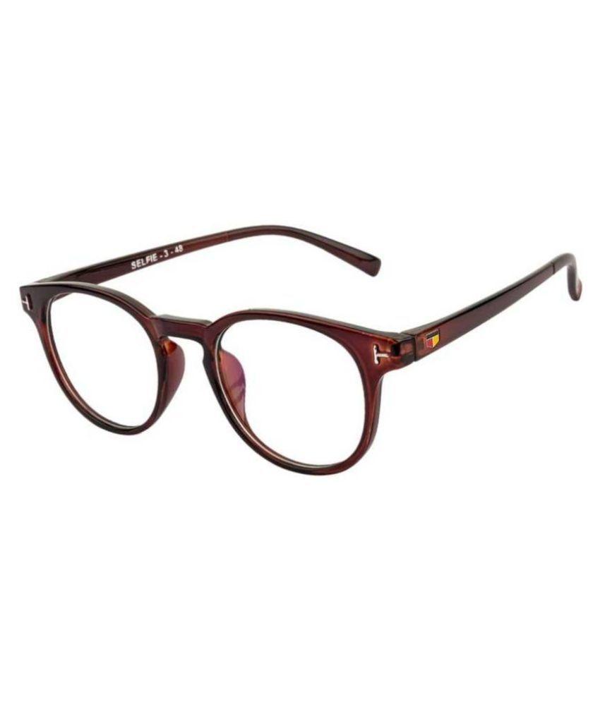 AAARAV Brown Oval Spectacle Frame Tngovl