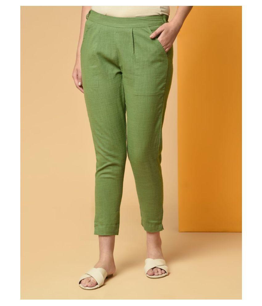 Aadrika Cotton Lycra Casual Pants