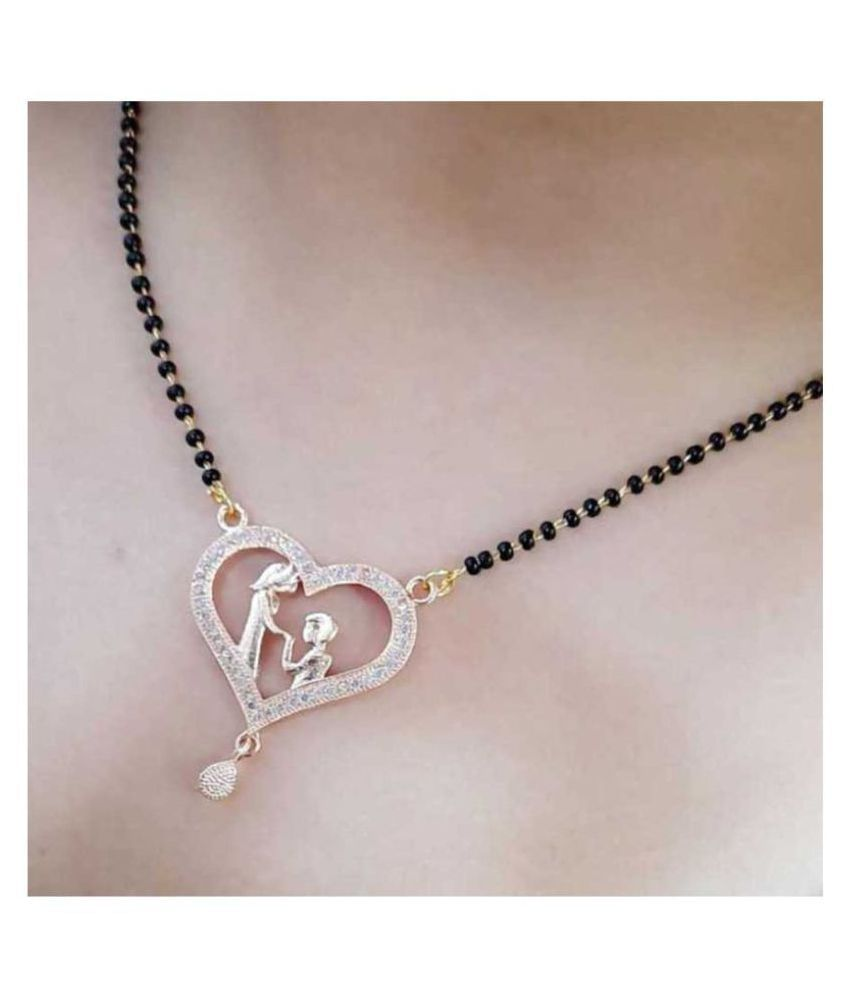 Mamata Collection Stylish gold Propose heart shape Alloy Mangalsutra For Women
