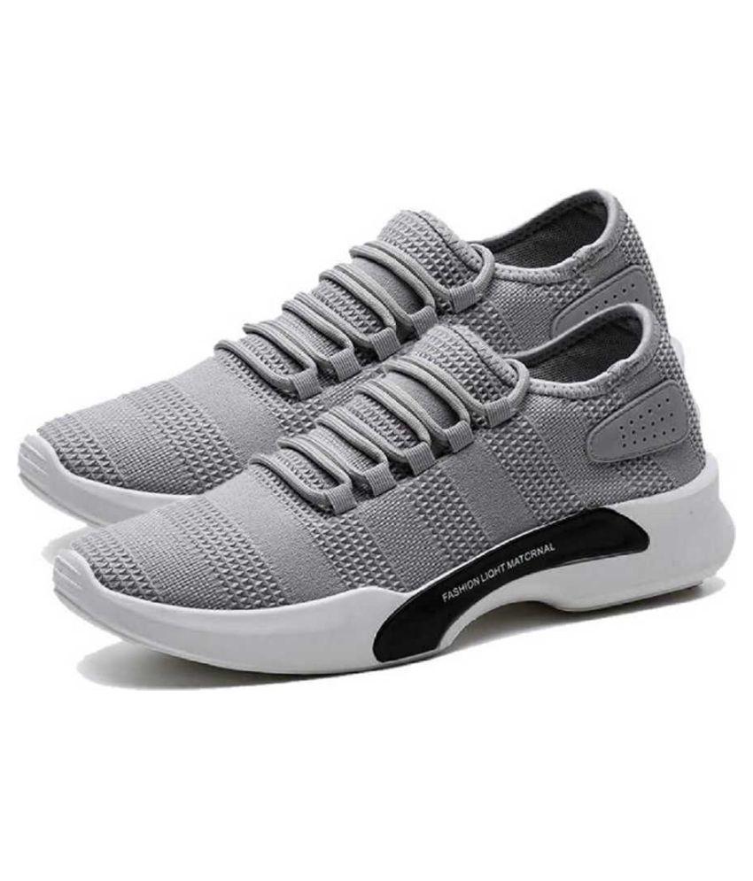 Aadi Gray Running Shoes