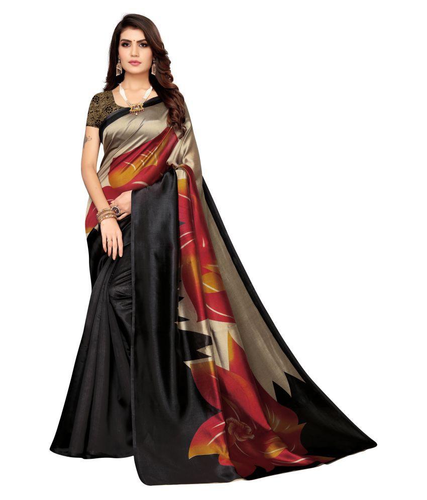 KSUT Black Art Silk Saree