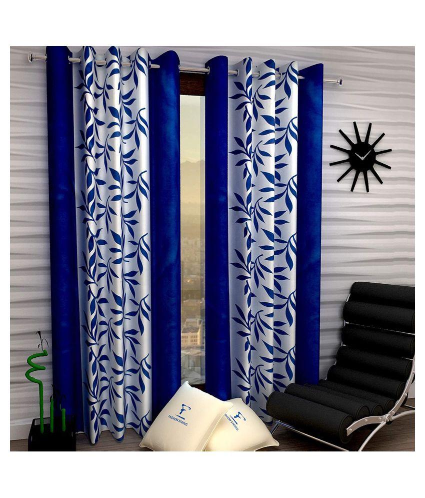 Vikas Trading Set of 2 Door Semi-Transparent Eyelet Polyester Curtains Purple