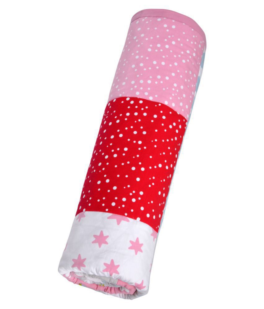 Dadslove Multi-Colour Cotton Sleeping Mat ( 75 cm × 75 cm)