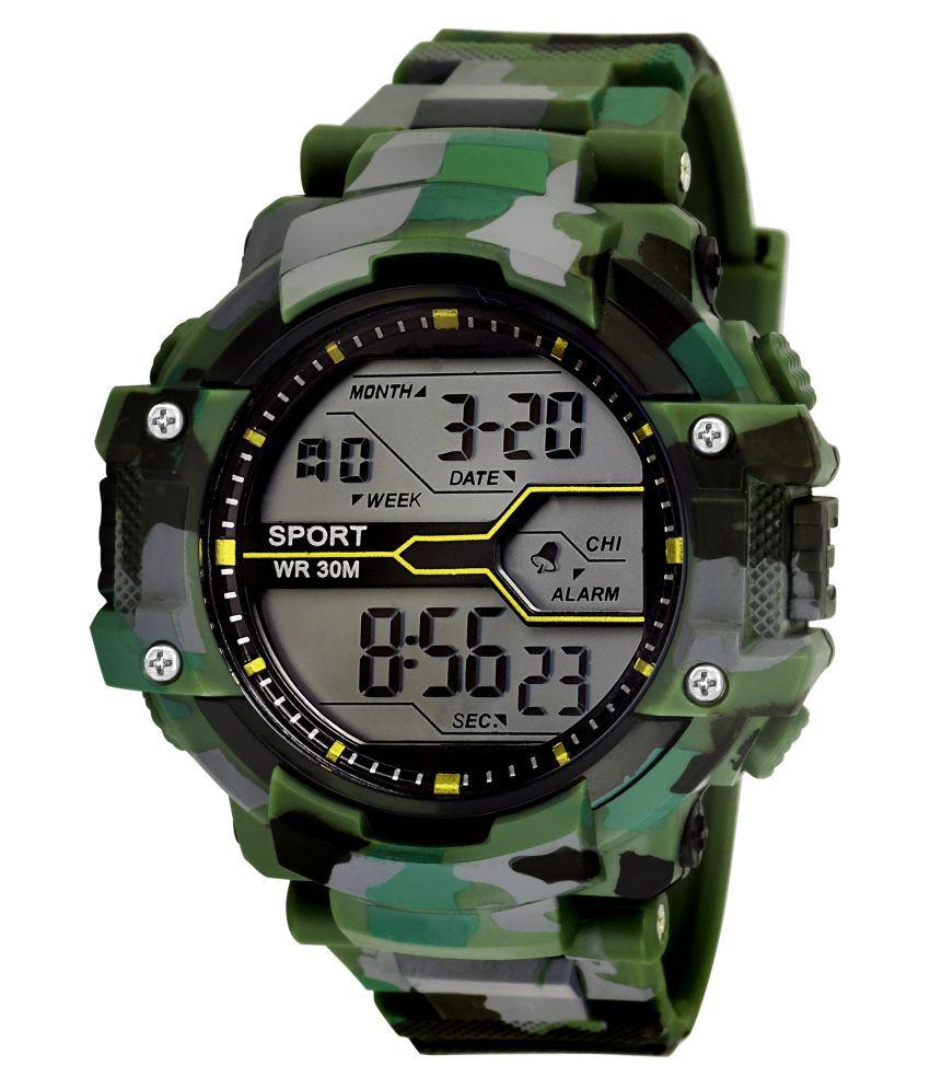 Grandson G-031 Pack of 1 PU Digital Men's Watch
