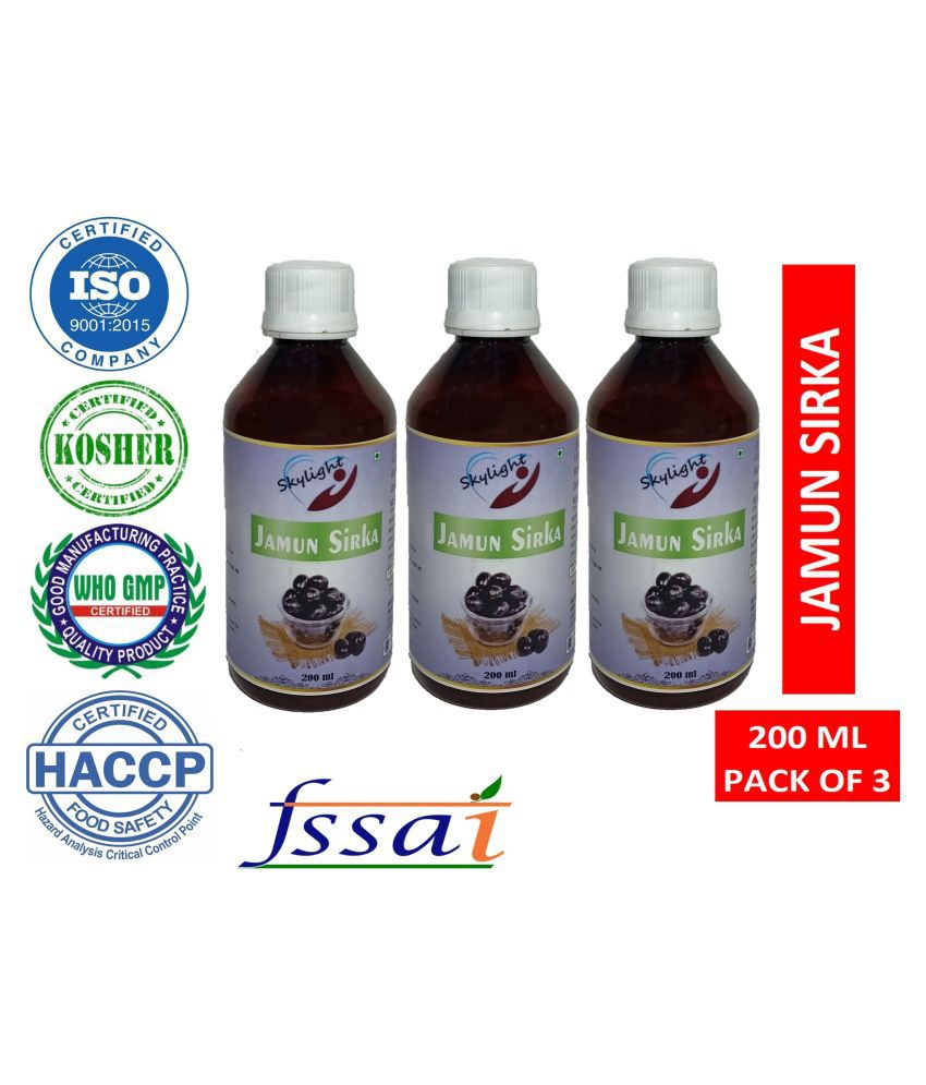Skylight JAMUN SIRKA 200ML PACK 3 Cider Vinegar JAMUN 600 g Pack of 3