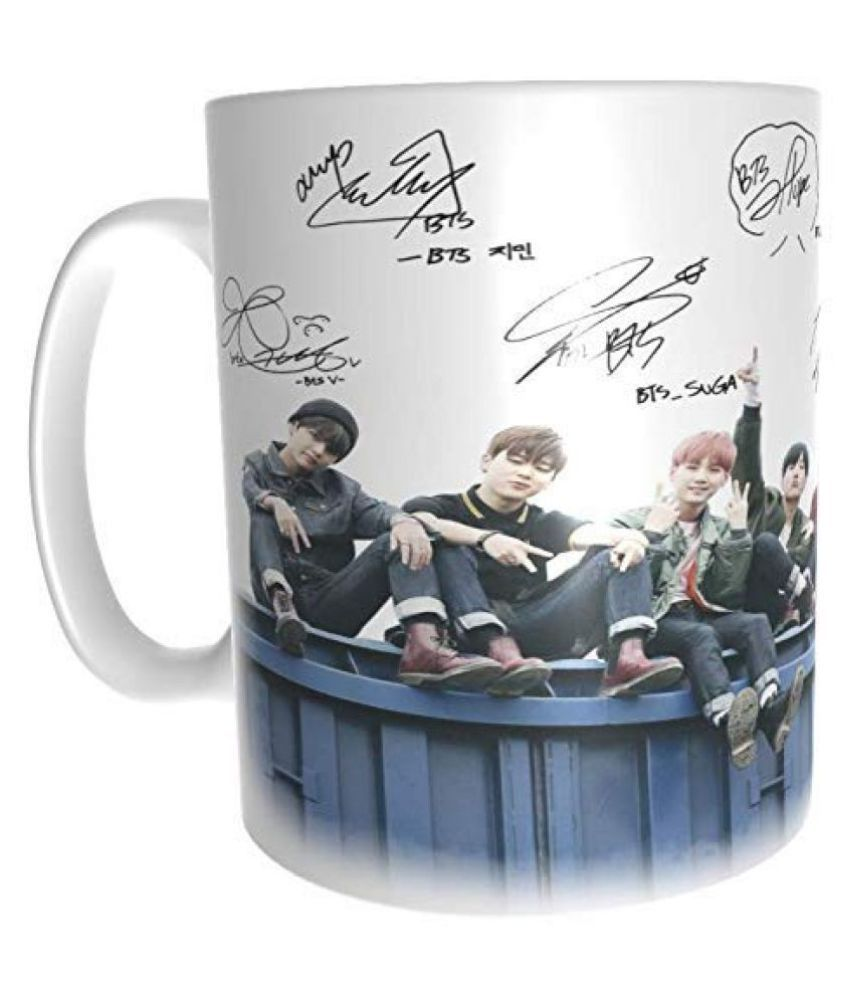 Pallabi Enterprises BTS MUG Ceramic Coffee Mug 1 Pcs 350 mL