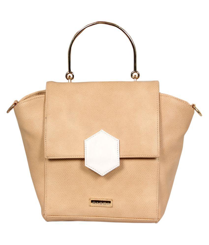 Rasga Beige P.U. Sling Bag