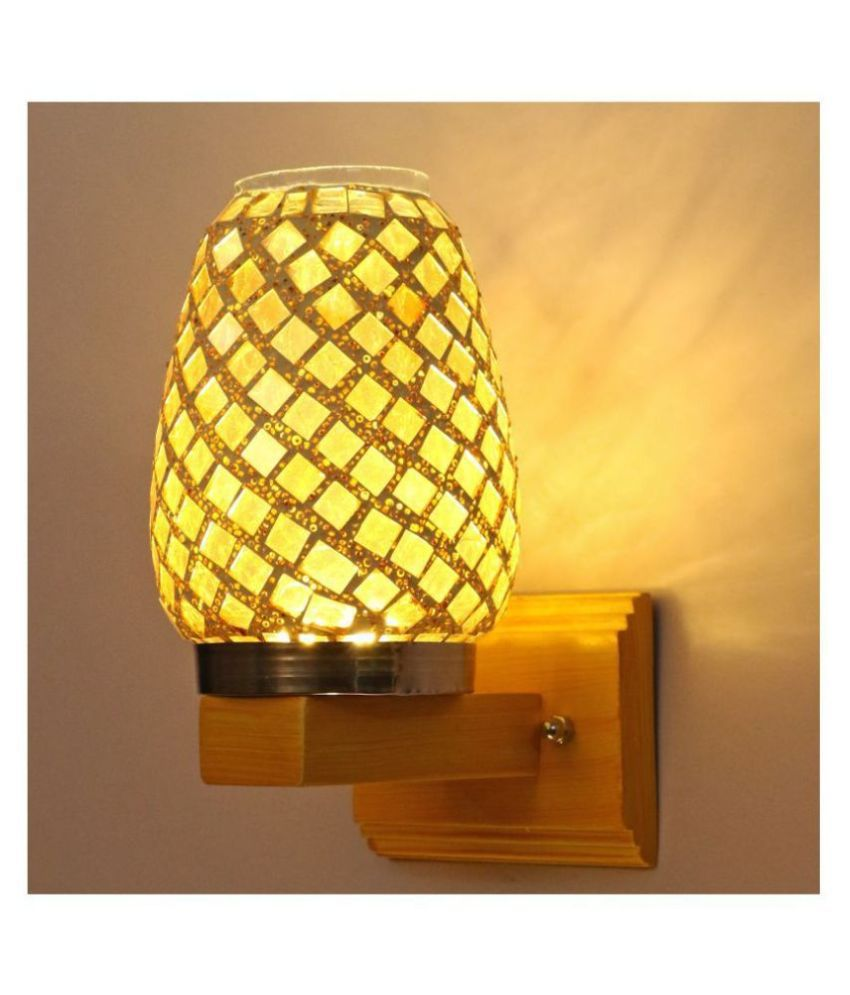 AFAST Decorative Wall Lamp Light Glass Wall Light Gold - Pack of 1
