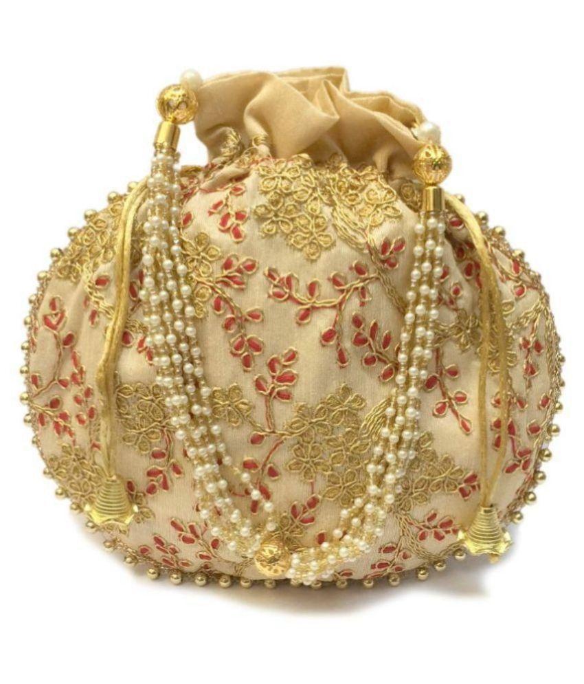 Bulbul Gold Silk Potli