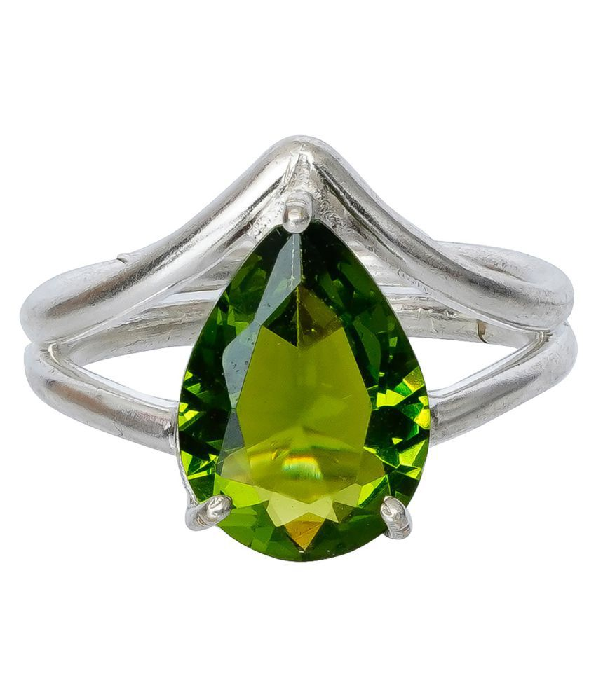 RSPR Green Crystal Shine Stone Party Bling Contemporary Adjustable Finger Ring