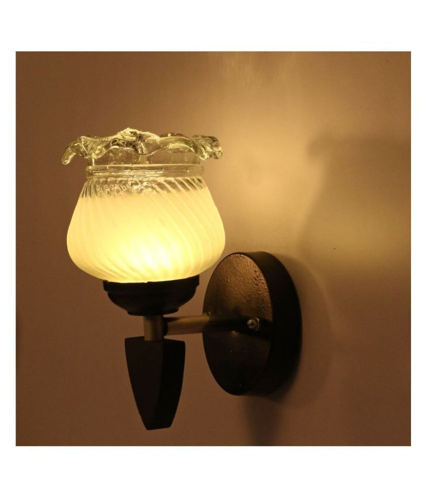 AFAST Decorative Wall Lamp Light Glass Wall Light Off White - Pack of 1