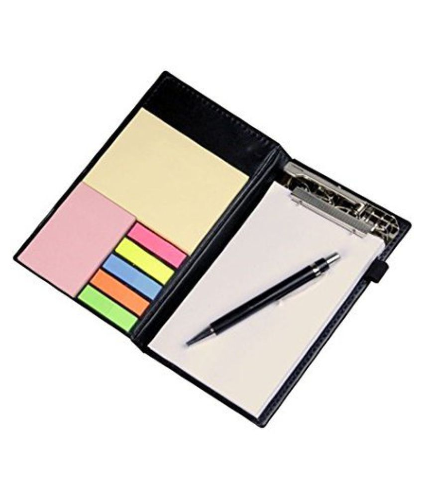 PAPERLLA Memo White and Rust Note pad Organiser/memo Notebook Holder Booklet Block Notes for Making Check List for Office and Gifting Purpose with Tear Off Sheets with Free Pen (Set of 2)