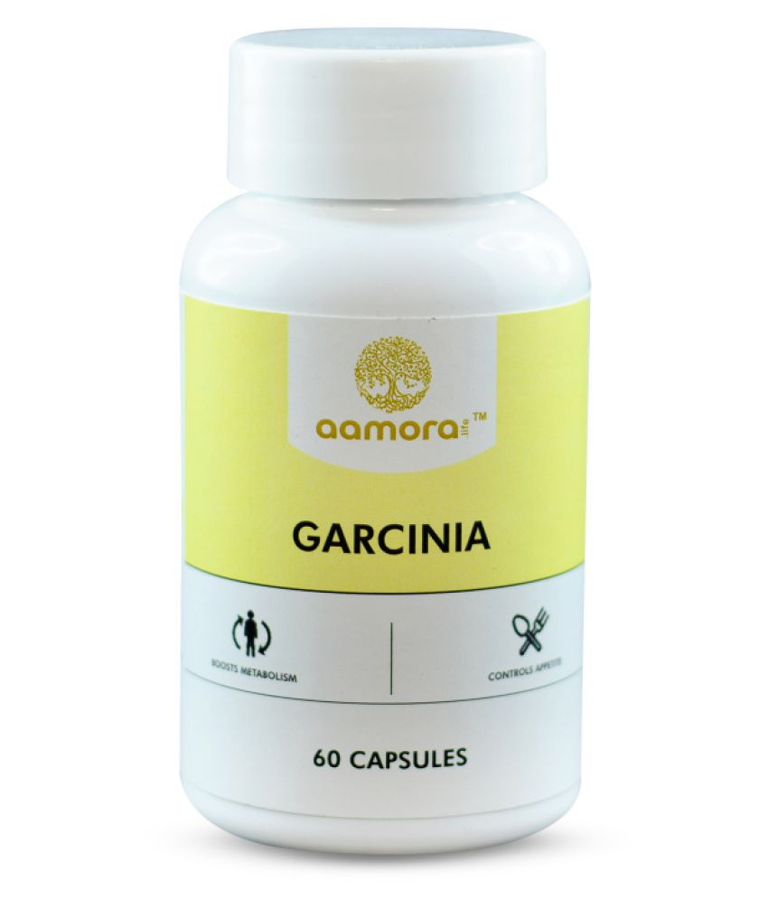 Aamora Life Fat Burner with Garcinia Cambogia Extract Weight loss product for Men & Women- 60 Veg Capsules 500 mg Unflavoured Single Pack
