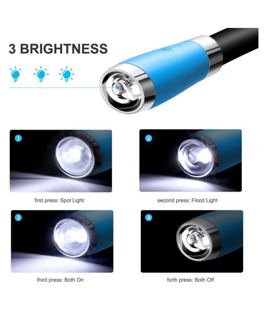 OSSDEN 0.5W Flashlight Torch 4 LED Hug light Neck - Pack of 1