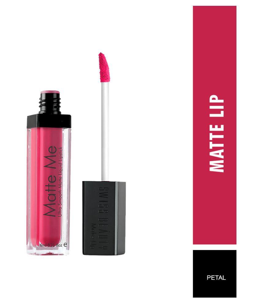 Swiss Beauty Matte Liquid Lipstick (Petal), 6ml