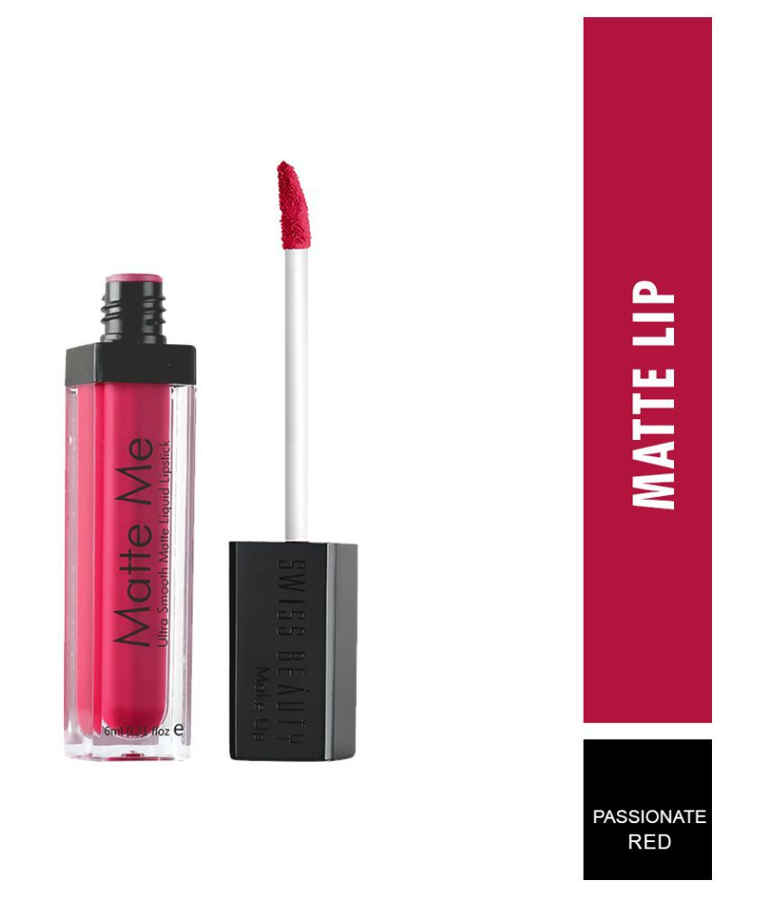 Swiss Beauty Matte Liquid Lipstick (Passionate Red), 6ml