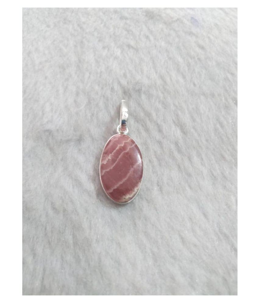 Pink Rhodochrosite Natural Agate Stone Pendant