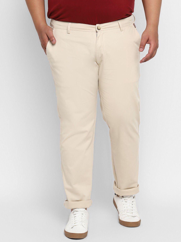 Urbano Plus Cream Regular -Fit Trousers