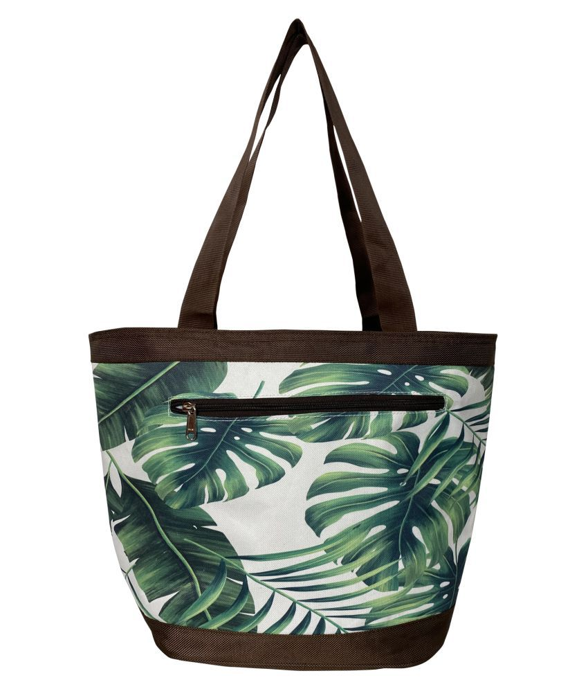 Aspen Leather Multi Canvas Tote Bag