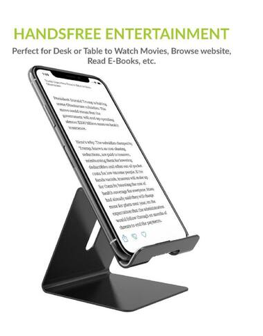 ABKKO Mobile and Tablet Metal Stand Holder for Mobile and Tablet ( Black )