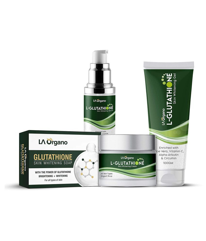 LA ORGANO L-Glutathione Cream Serum Gel Soap Facial Kit g Pack of 4