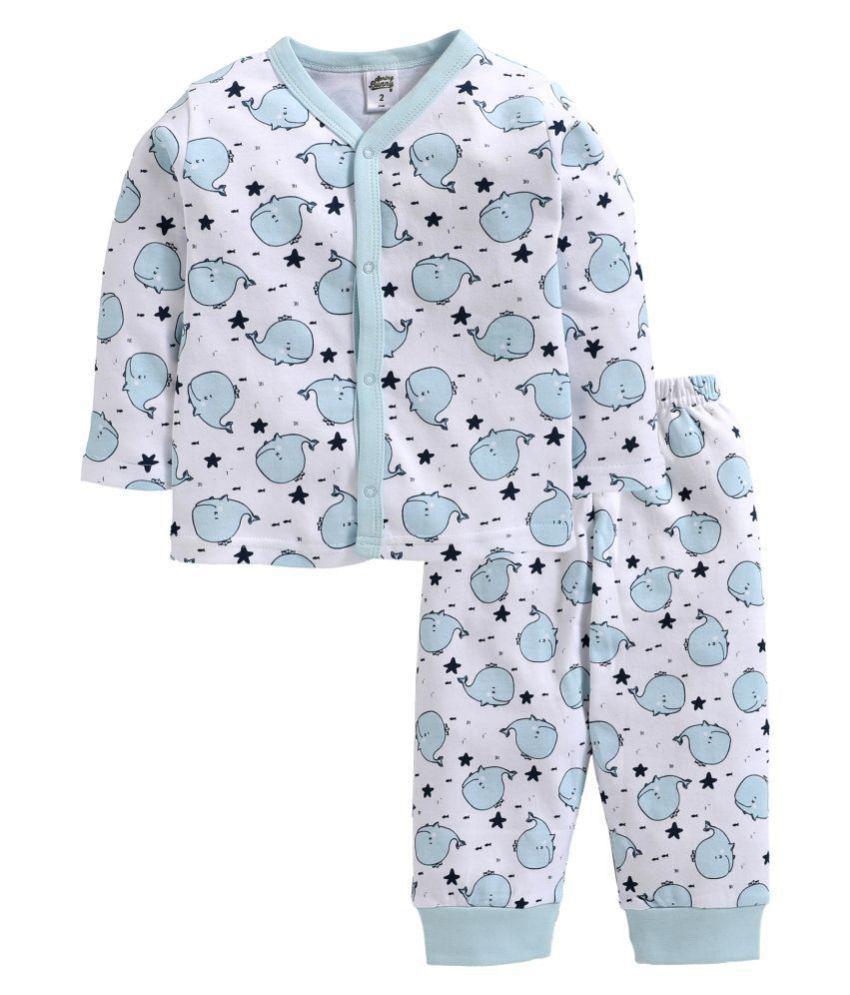 Spring Bunny -  Baby Boy ' Whale ' Blue Pyjama Set