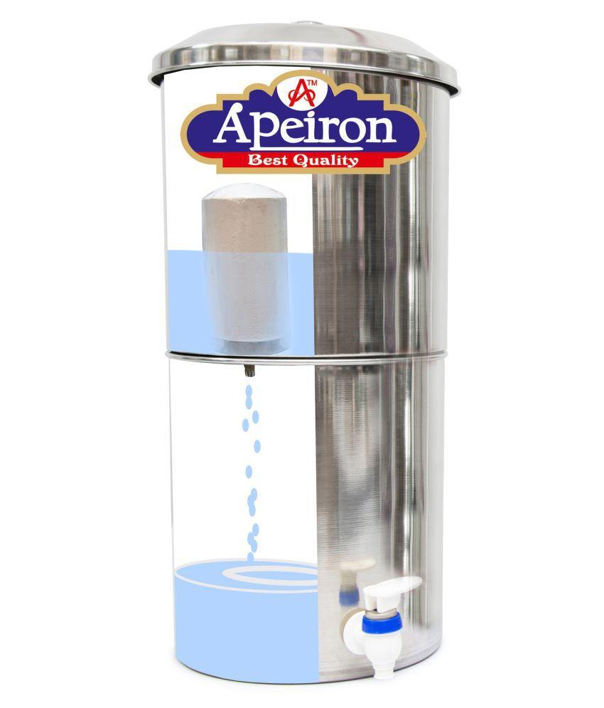 Apeiron Water filter-18 ltr Stainless steel Bottom Loading Water Dispenser