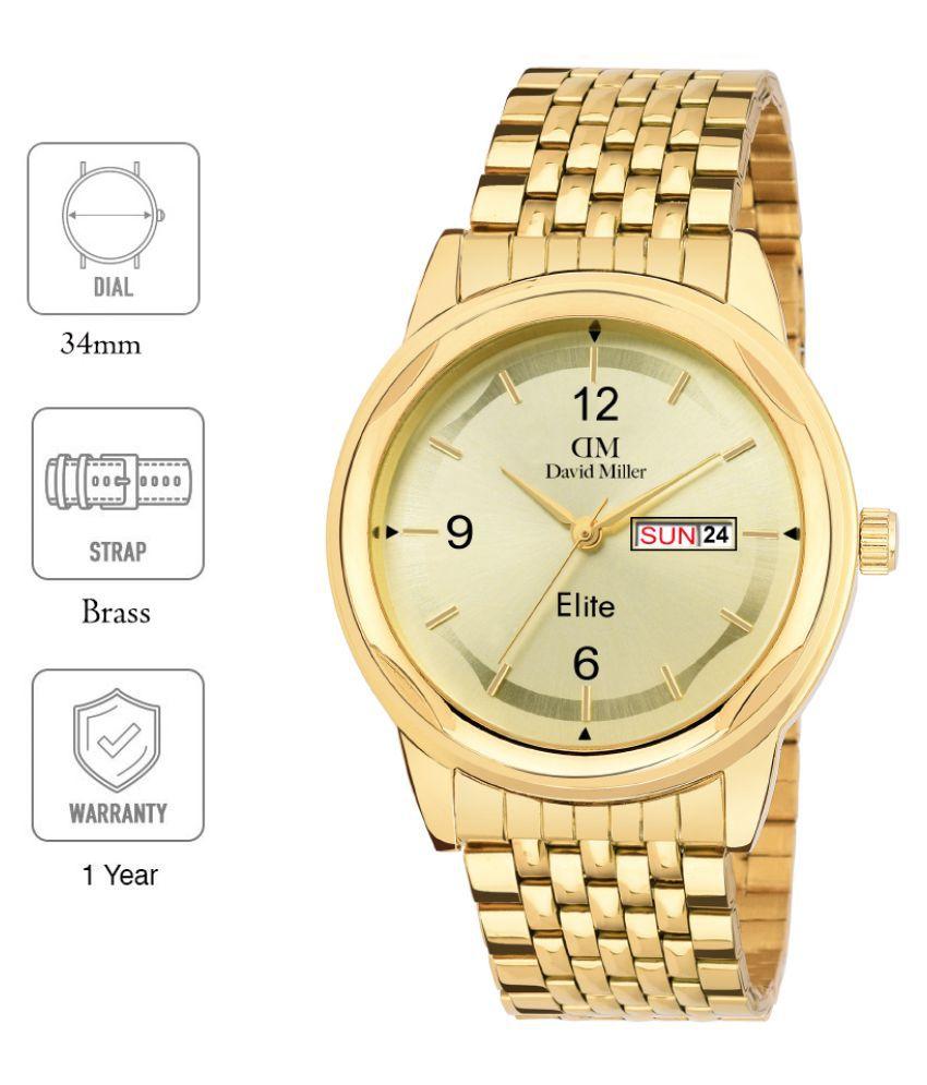 David Miller DMRCBM12 Brass Analog Men's Watch