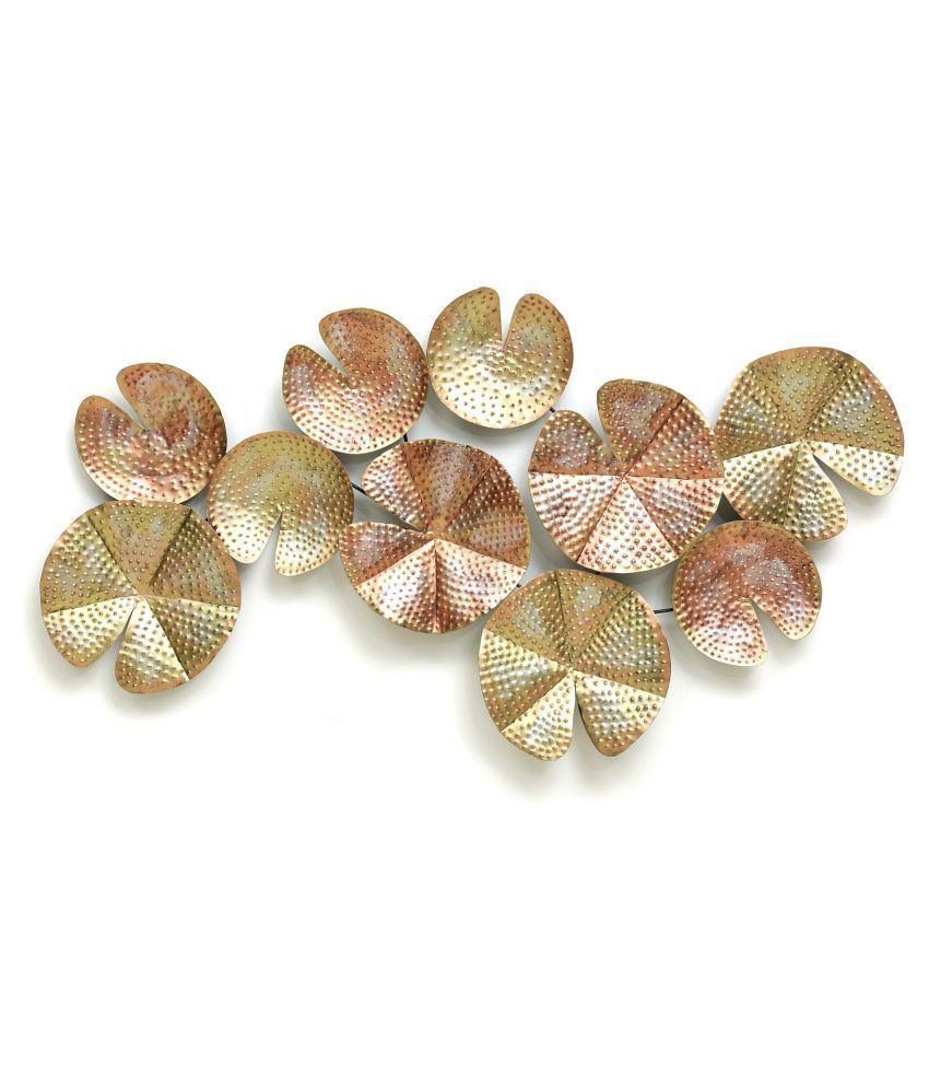 microtex Iron 10 Crocus Metal Wall Designer Shape Decoratives Panel Brown - Pack of 1