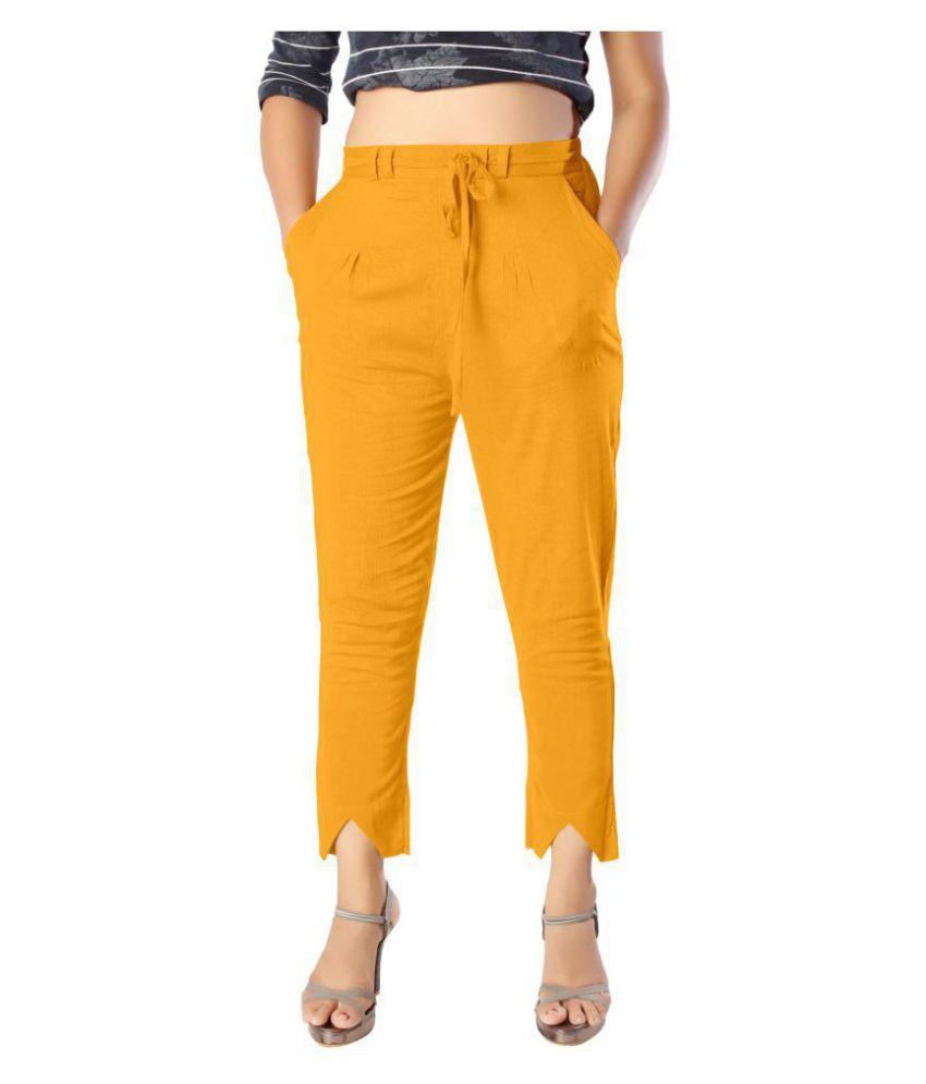 elenia Cotton Jeans - Yellow