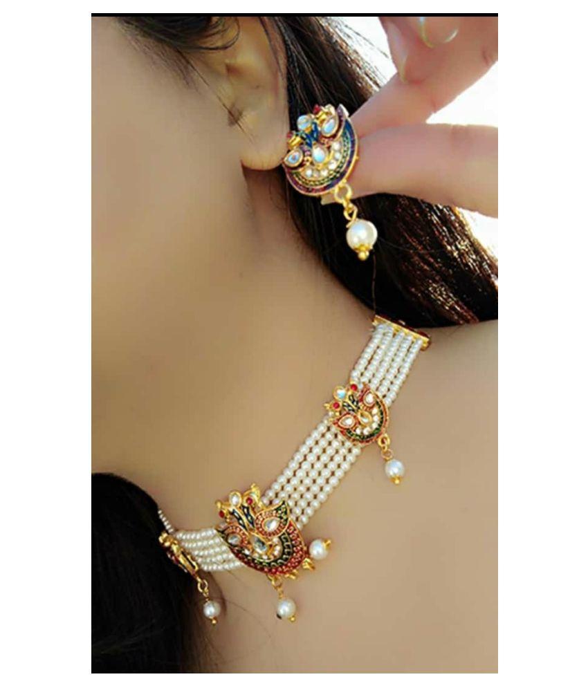 gilher Copper White Contemporary/Fashion Necklaces Set Choker