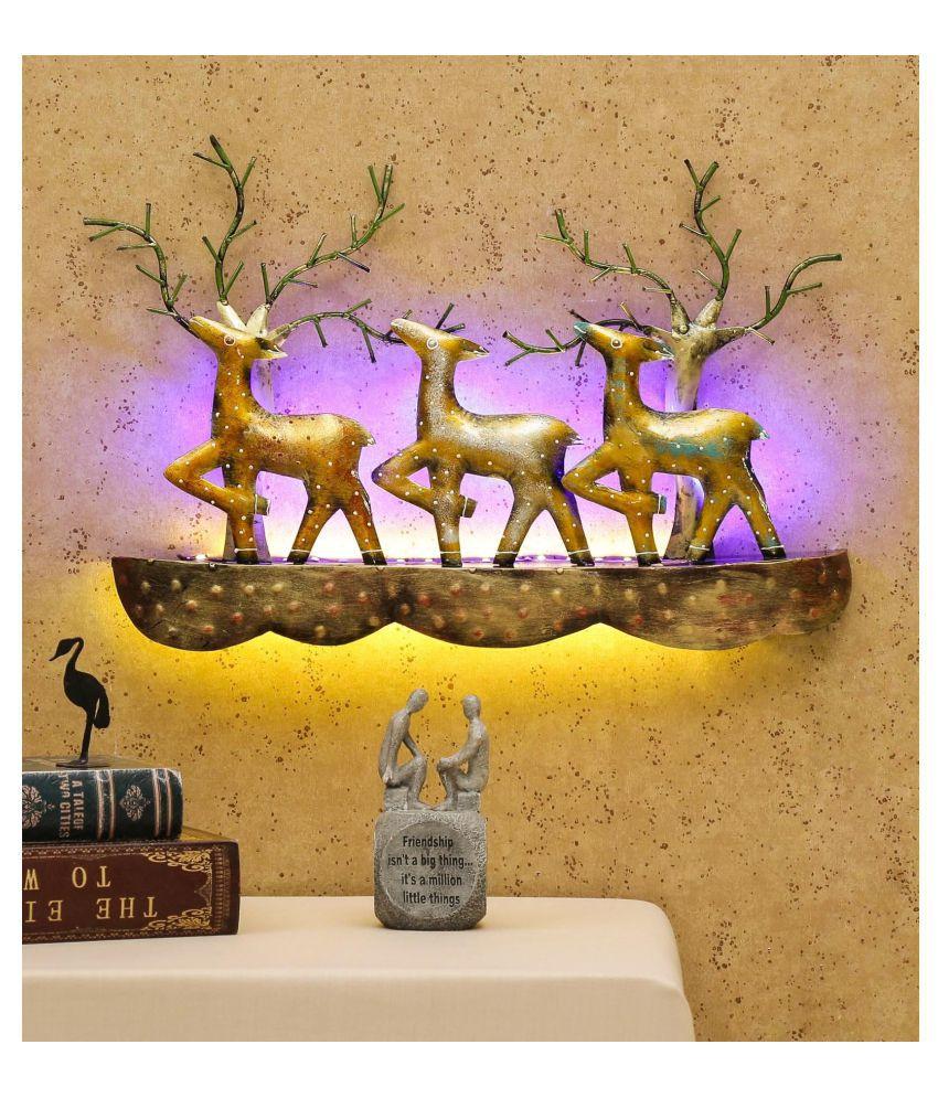 microtex Iron Desert animal Designer Shape Decoratives Panel Gold - Pack of 1