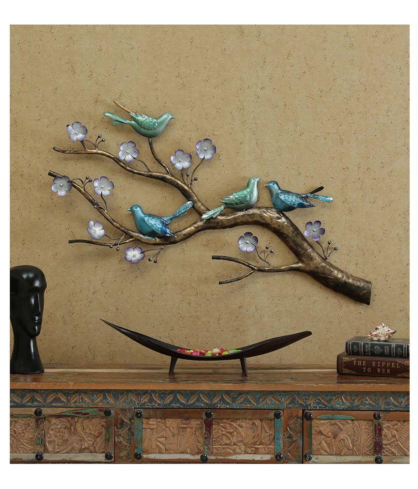 microtex Iron 4 birds on tree Designer Shape Decoratives Panel Multi - Pack of 1