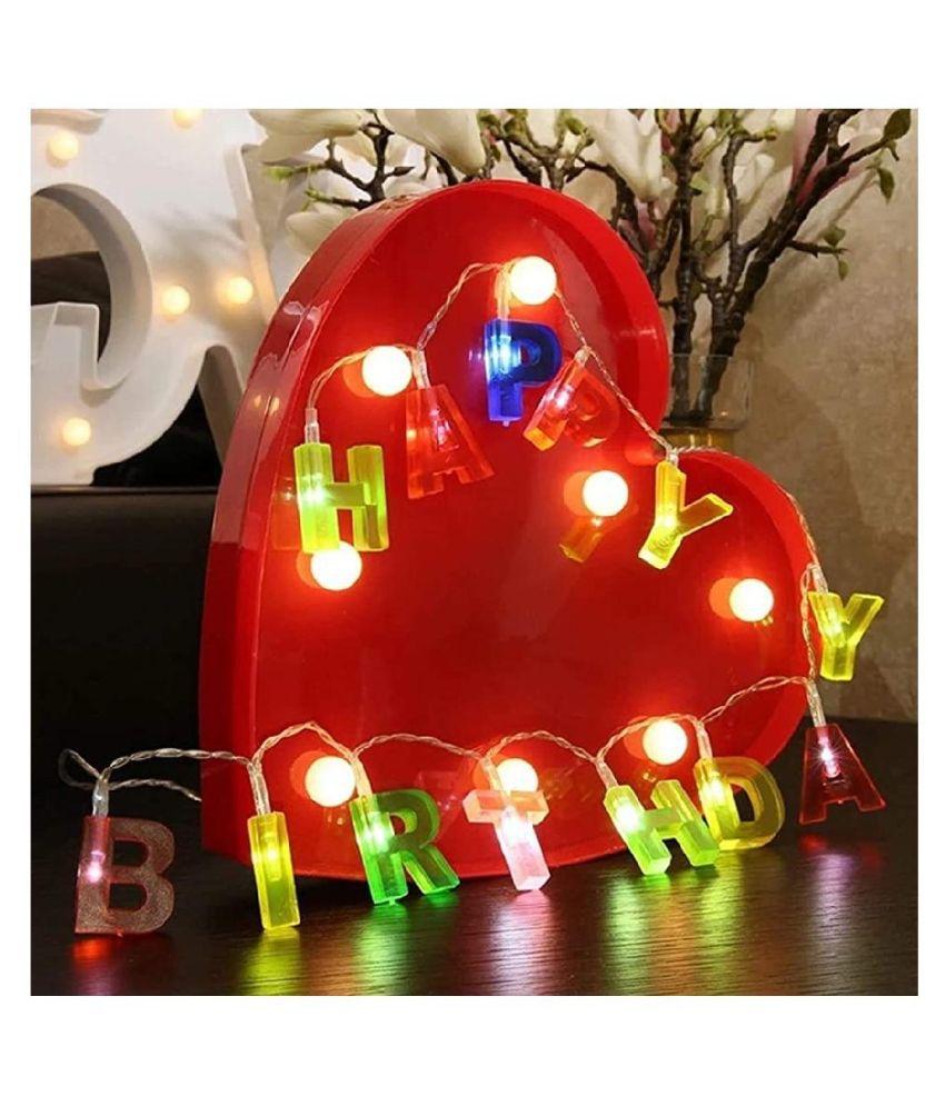 thriftkart 13 LED Letter HAPPY BIRTHDAY String Lights Multi