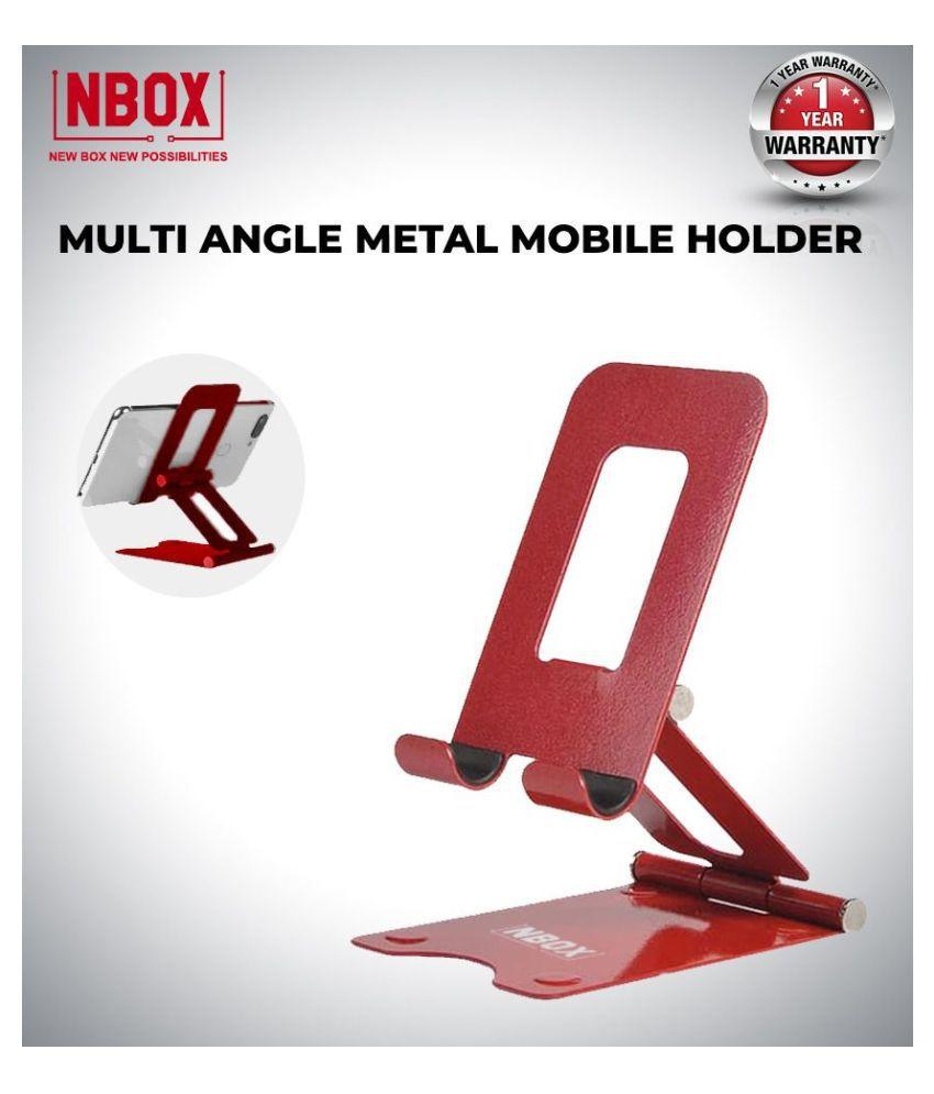 NBOX MULTI ANGLE METAL Universal Desk Cell Phone Tablet Holder Folding Adjustable Stand Bracket Phone Stander Desktop For SMARTPHONES