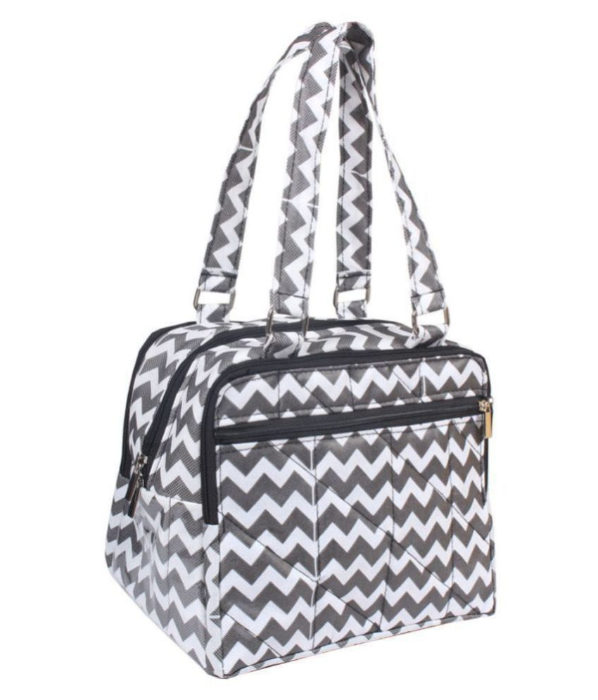PrettyKrafts Black Fabric Shoulder Bag