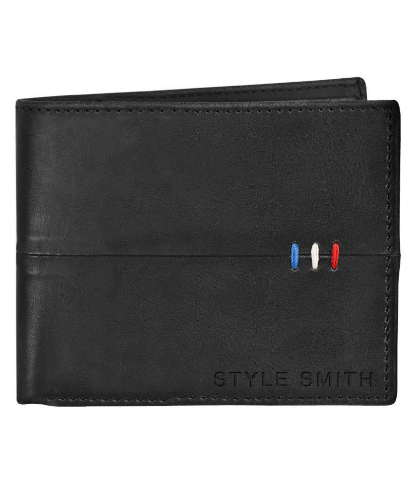 Style Smith Leather Black Formal Regular Wallet