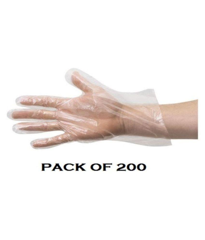 AQUASHINE Plastic Universal Size Cleaning Glove