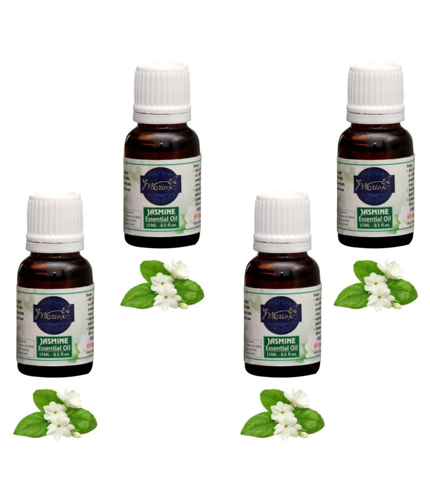 Moriox Jasmine essential oils for Hair,Skin & Aromatherapy-Pack of 4 Aroma /diffuser oil Essential Oil 60 g